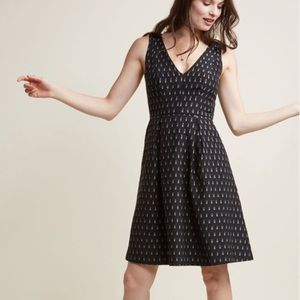 Hutch for ModCloth lipstick print dress